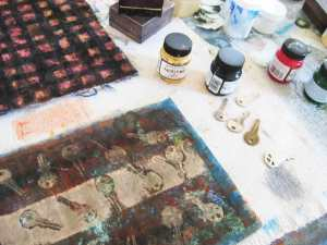 Paints, keys, fabric - and other projects.