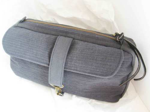 Utility pouch or clutch bag, open pocket with flap side