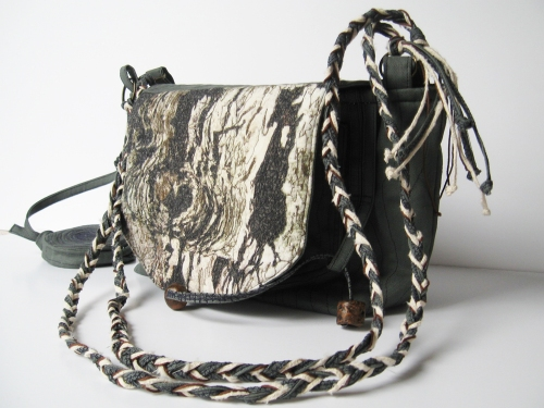 Tree Bark Bag With Knot Hole Coin Purse