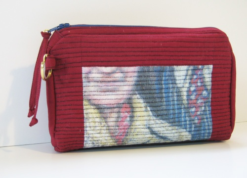 Zipper Pouch with Red Tie